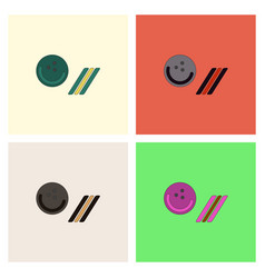 Bowling ball icon stock collection vector