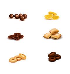 Breakfast cereals realistic set vector