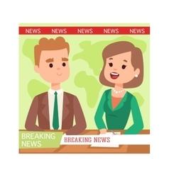 Breaking news people vector image