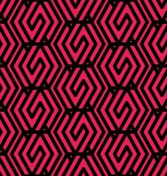 Bright rhythmic textured endless pattern maze vector