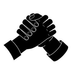 brotherhood handshake icon simple style vector image
