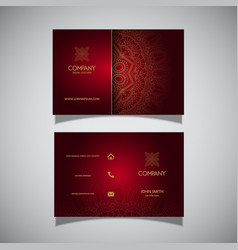 Business card with elegant decorative design vector