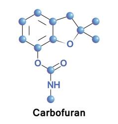 carbofuran toxic carbamate pesticide vector image