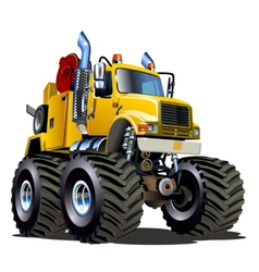 Cartoon Monster Tow Truck vector image
