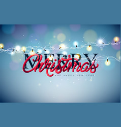 Christmas with glowing colorful vector