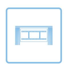 Cinema theater auditorium icon vector