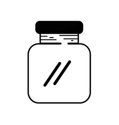 Contour glass and crystal jar object to save vector