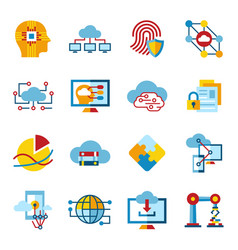 digital artificial intelligence cloud icon vector image