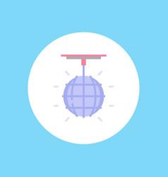 disco ball icon sign symbol vector image