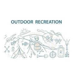 Doodle style design concept outdoor recreation vector