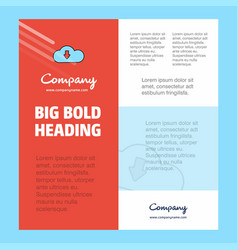 downloading business company poster template with vector image