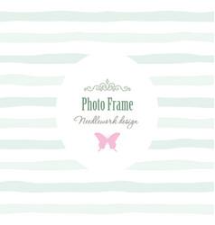 elegant vintage template - oval frame with vector image