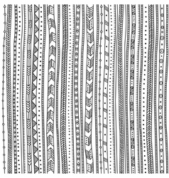 Ethnic ornate seamless pattern vertical vector