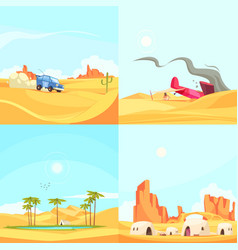flat desert design concept vector image