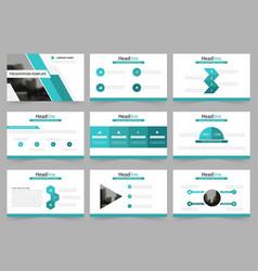 green abstract presentation templates vector image