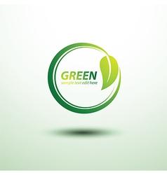 Green label2 vector