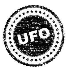 Grunge textured ufo stamp seal vector