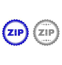 grunge zip textured watermarks vector image