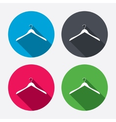 Hanger sign icon Cloakroom symbol vector image