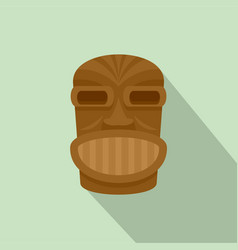hawaii wooden idol icon flat style vector image