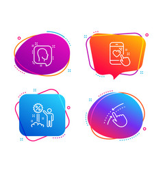 head heart rating and discount icons set swipe vector image
