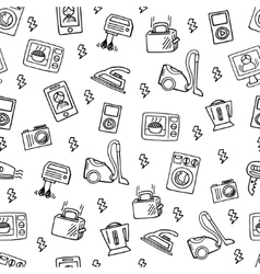 Home electronics sketch seamless pattern vector