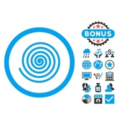 Hypnosis Flat Icon with Bonus vector