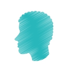 Isolated man head profile design vector