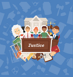judge justice law court and legal judgment vector image