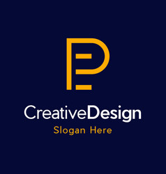 Letter peep creative business modern logo vector