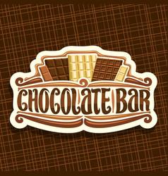 Logo for chocolate bar vector