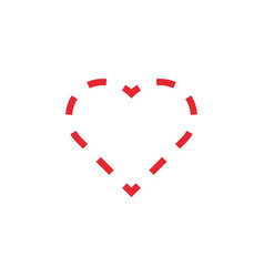love heart icon design template isolated vector image