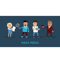 Mass Media Concept Banner vector image