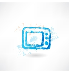 Microwave grunge icon vector