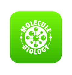 molecule biology icon green vector image