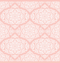 Orient seamless pink and white background vector