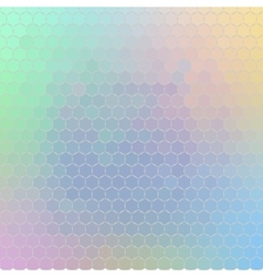 Ornament of geometric shapes placed on abstract vector image