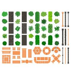 Outdoor landscape elements architectural vector