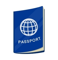 Passport icon in cartoon style isolated on white vector image