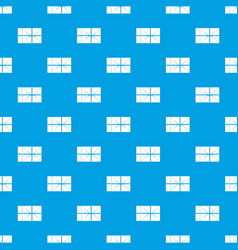 postal parcel pattern seamless blue vector image