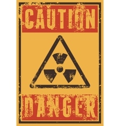 Radioactive Sign typography vintage grunge poster vector