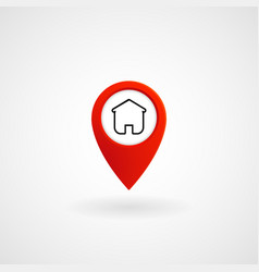 red location icon for home eps file vector image