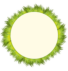 round frame with green grass vector image