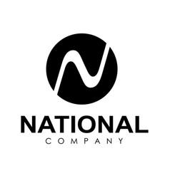 round shape logo design vector image