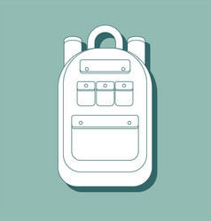 rucksack icon outline rucksack icon for web vector image