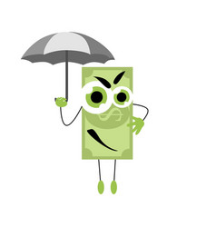 safe money insurance banknote under umbrella vector image