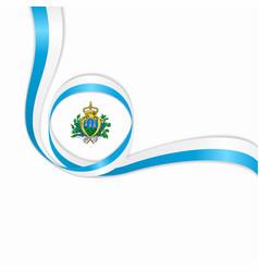 san marino wavy flag background vector image