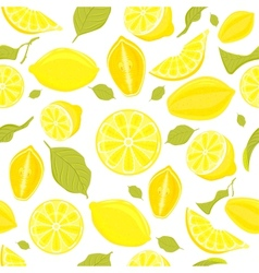 Seamless pattern of different lemons vector