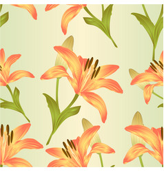 seamless texture flower yellow lily vector image