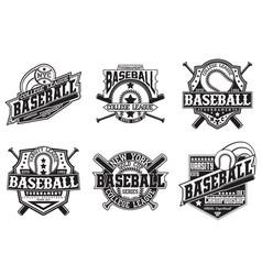Set of vintage emblem design vector